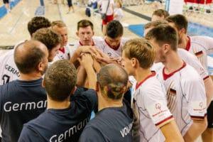 Special Olympics World Games Los Angeles 2015 Einschwören aufs Spiel. Teamgeist wird bei der deutschen Mannschaft groß geschrieben. Foto: SOD/Jörg Brüggemann (OSTKREUZ)
